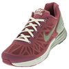 NIKE Girls` Lunarglide 6 Running Shoes Hot Pink and White