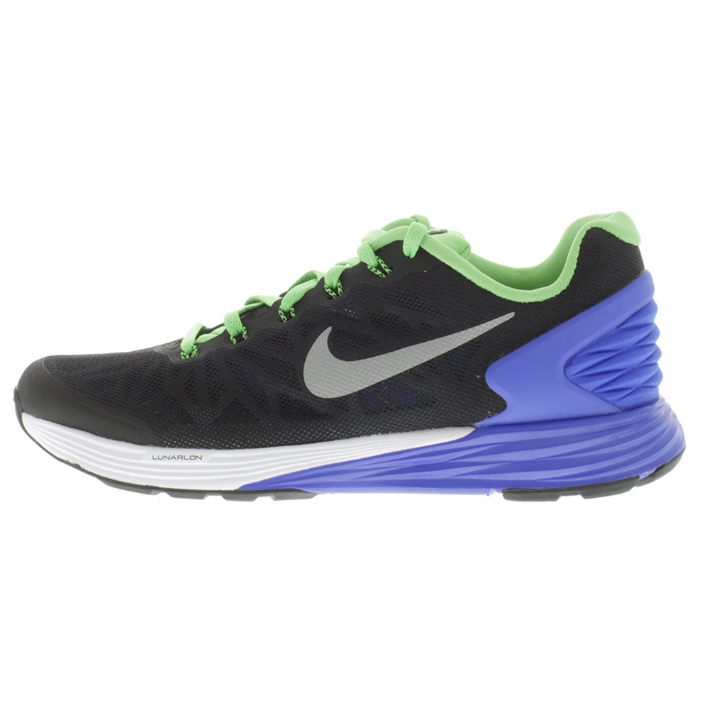 boys lunarglide 6 running shoes black and lyon blue