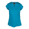 BOLLE Women`s High Voltage Cap Sleeve Tennis Top Ocean