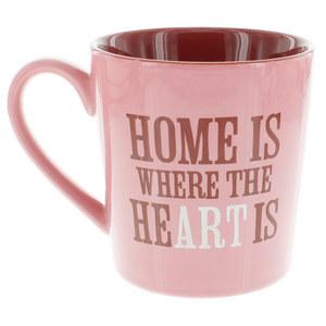 LIFE IS GOOD HOME IS WHERE EVERYDAY MUG BLUSH PINK
