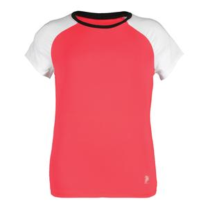 Girls` Diva Cap Sleeve Tennis Top