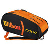 WILSON Tour Molded 9 Pack Tennis Bag Black and Orange