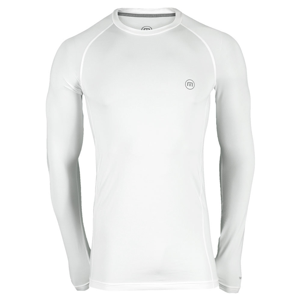 Men's Petersen Long Sleeve Tennis Crew White