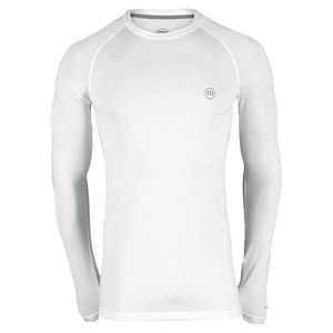 Men`s Petersen Long Sleeve Tennis Crew White