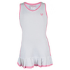 LITTLE MISS TENNIS Girls` Tennis Dress White and Pink