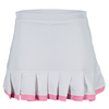 LITTLE MISS TENNIS Girls` Ruffle Tennis Skort White and Pink