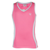 LITTLE MISS TENNIS Girls` Tennis Tank Pink and White