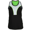 LUCKY IN LOVE Women`s Pindot Colorblock Tennis Racerback Black