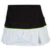 LUCKY IN LOVE Women`s Flounce Tns Skort Black and White