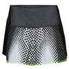 LUCKY IN LOVE Women`s Digital Flounce Tennis Skort Black Print