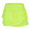 LUCKY IN LOVE Women`s Scallop Tennis Skort Neon Yellow