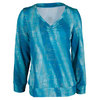 TAIL Women`s Lorelai Long Sleeve Tennis Top Sequin Skies Print