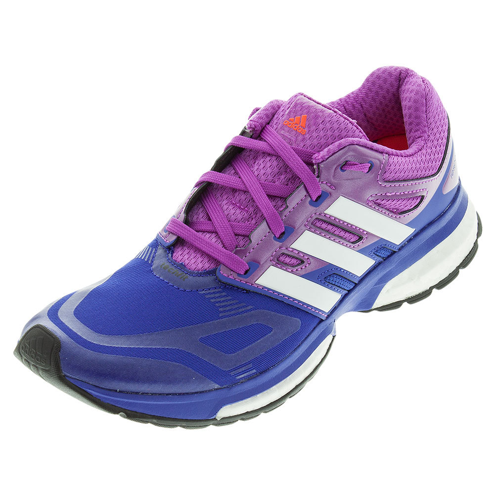 Women's Response Boost Techfit Running Shoes Night Flash And Flash Pink