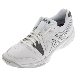 Men`s Gel-Gamepoint Tennis Shoes White and Charcoal