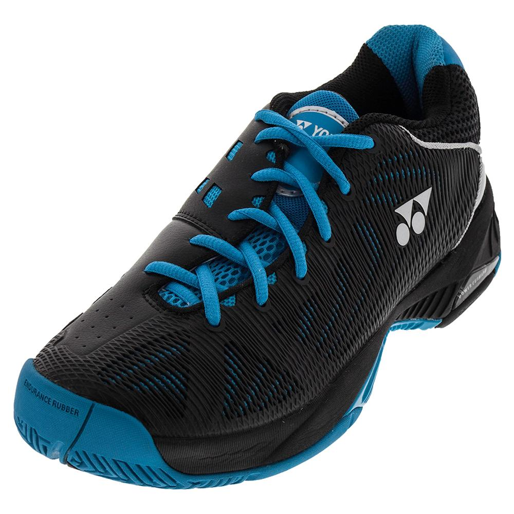 Men's Power Cushion Fusion Rev Tennis Shoes Black And Sky Blue