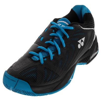 Men`s Power Cushion Fusion Rev Tennis Shoes Black and Sky Blue