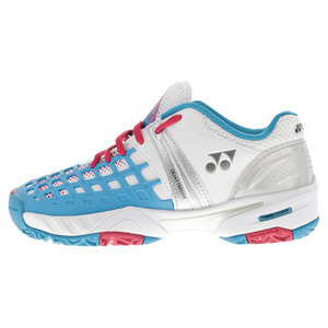 Women`s Power Cushion Pro Tennis Shoes White and Light Blue