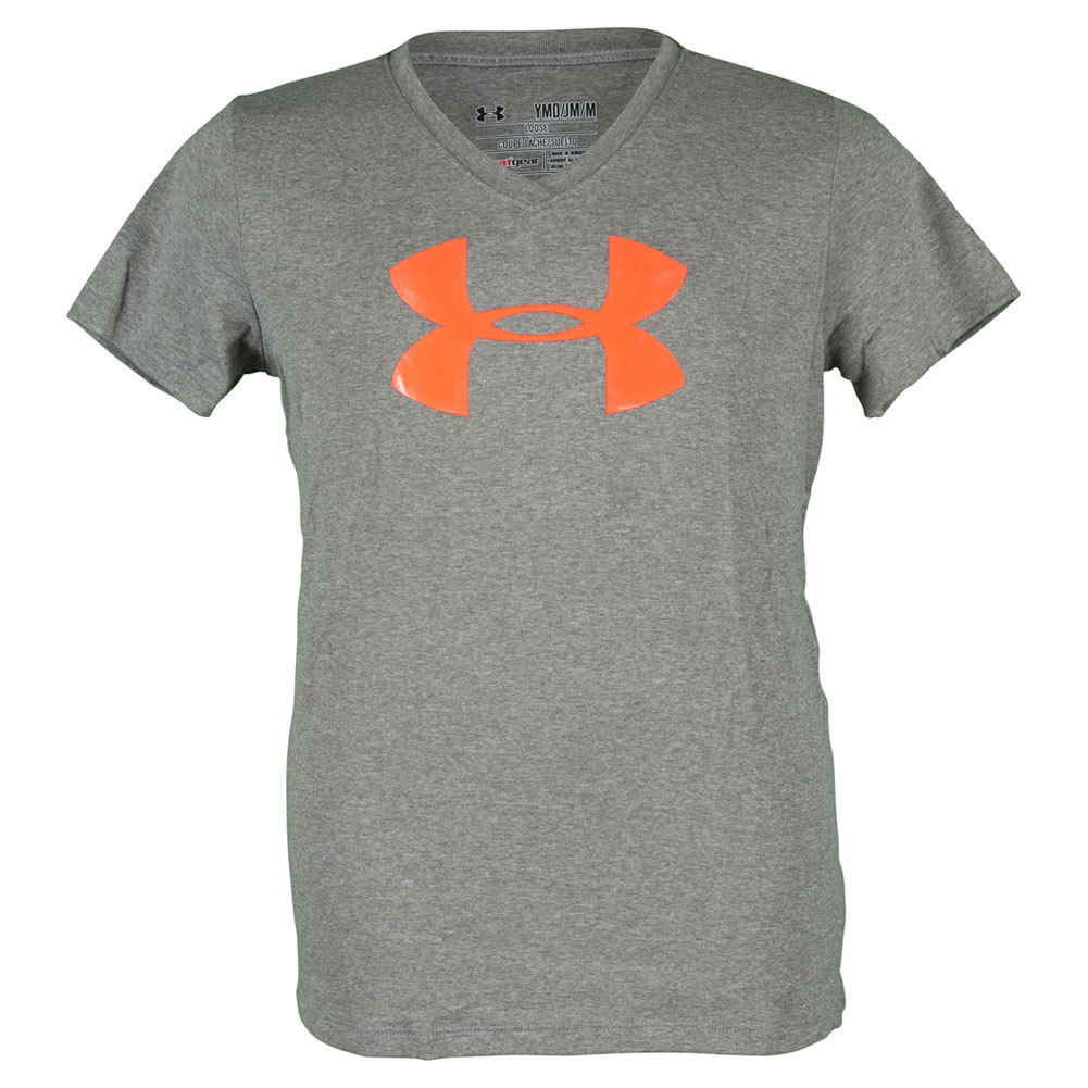 Girls` UA Big Logo Tech V Neck