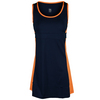 Women`s Viv Tennis Dress Navy Blue and Sherbet by TAIL