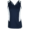 TAIL Women`s Penelope Tennis Tank Navy Blue and White