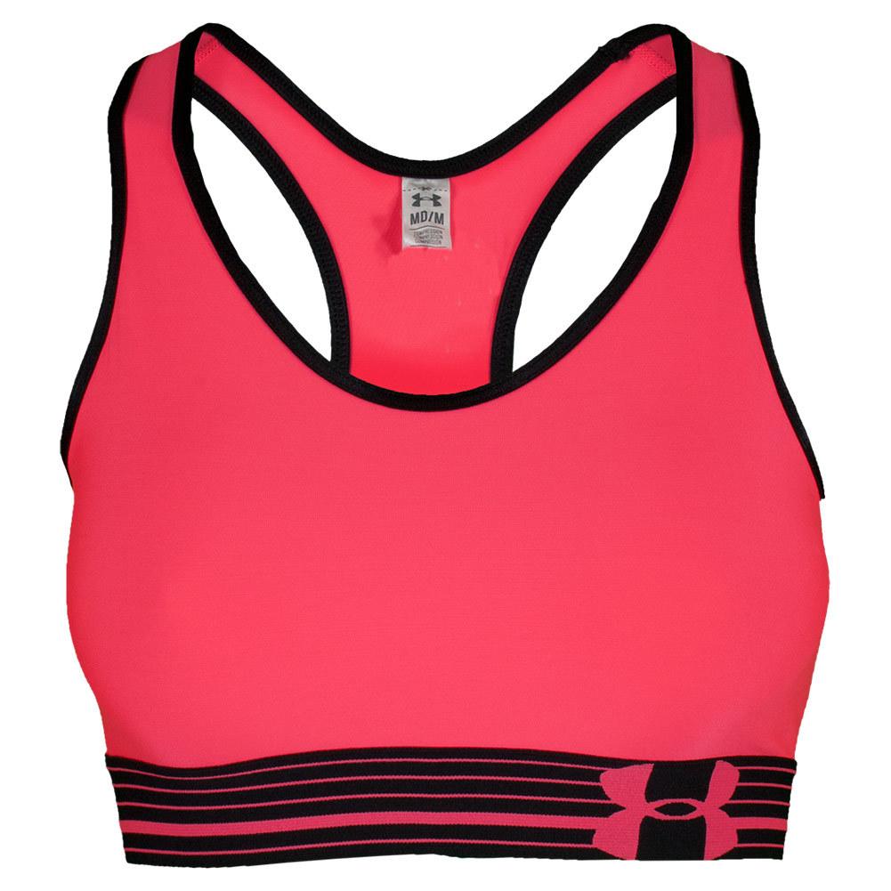 Under Armour Women's Heatgear Alpha Bra 685_pink_shock -