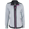 BOLLE Women`s All That Jazz Tennis Jacket White and Graphite Stripe