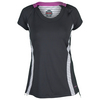BOLLE Women`s All That Jazz Cap Sleeve Tennis Top Graphite