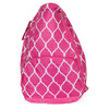 ALL FOR COLOR Pink Quatrefoil Tennis Backpack