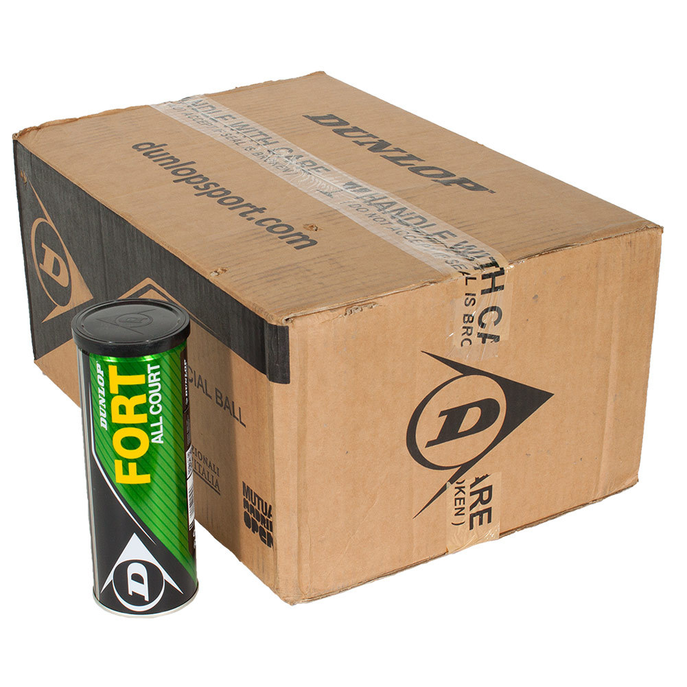 Dunlop Fort All Court Tennis Balls 24 Can Case