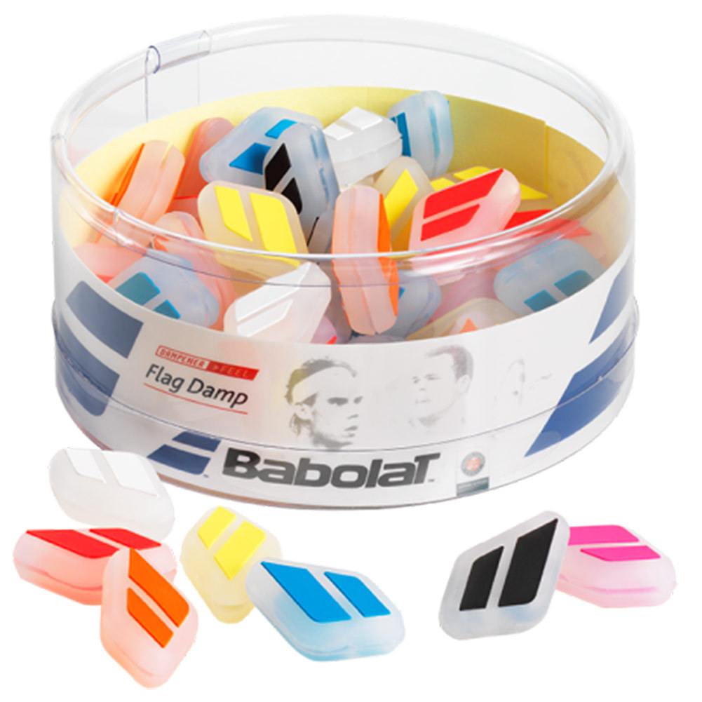 BABOLAT FLAG TENNIS DAMPENER JAR 50 COUNT
