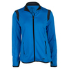 WILSON Women`s Tulip Knit Warm Up Tennis Jacket Neptune Blue