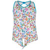 LUCKY IN LOVE Girls` Gem Tie Tennis Tank Print