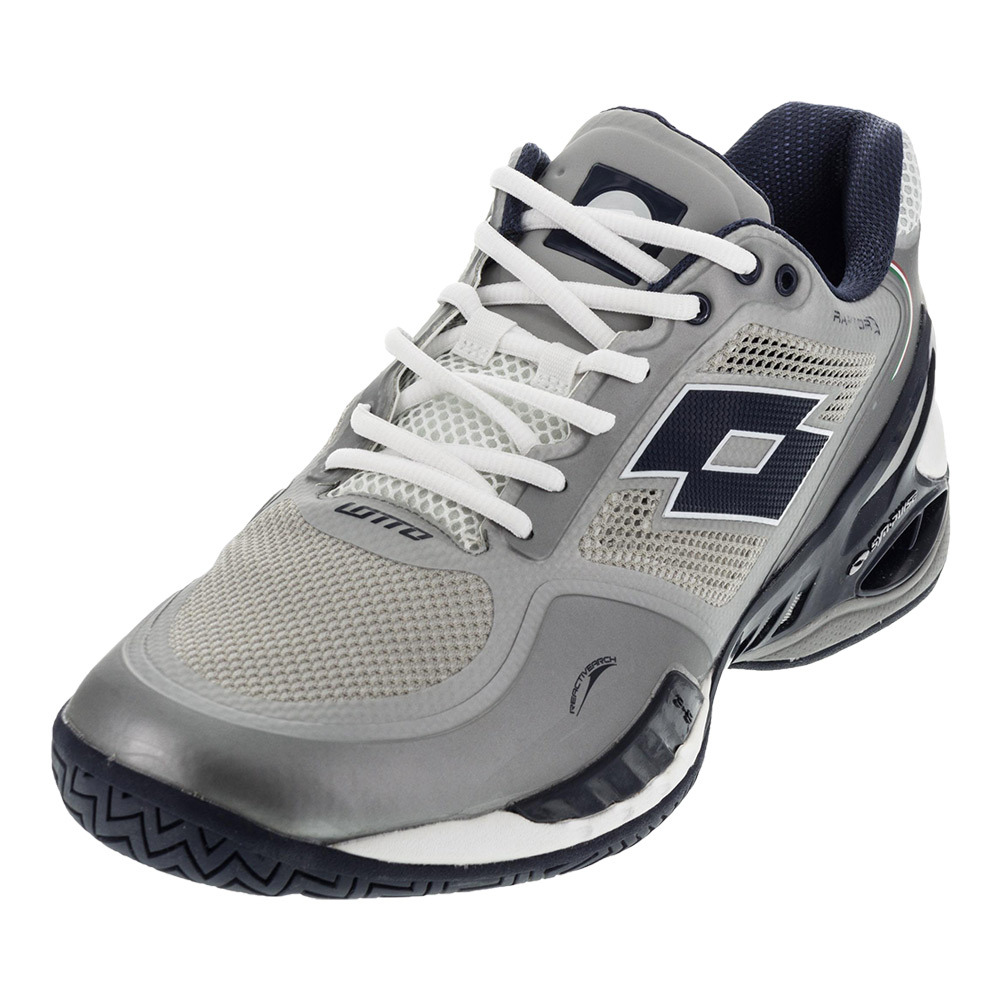 lotto s raptor evo speed tennis shoes metal silver and