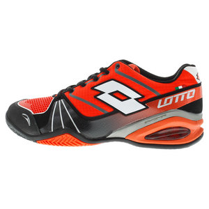 LOTTO MENS STRATOSPHERE CLAY TNS SHOES RD/BK