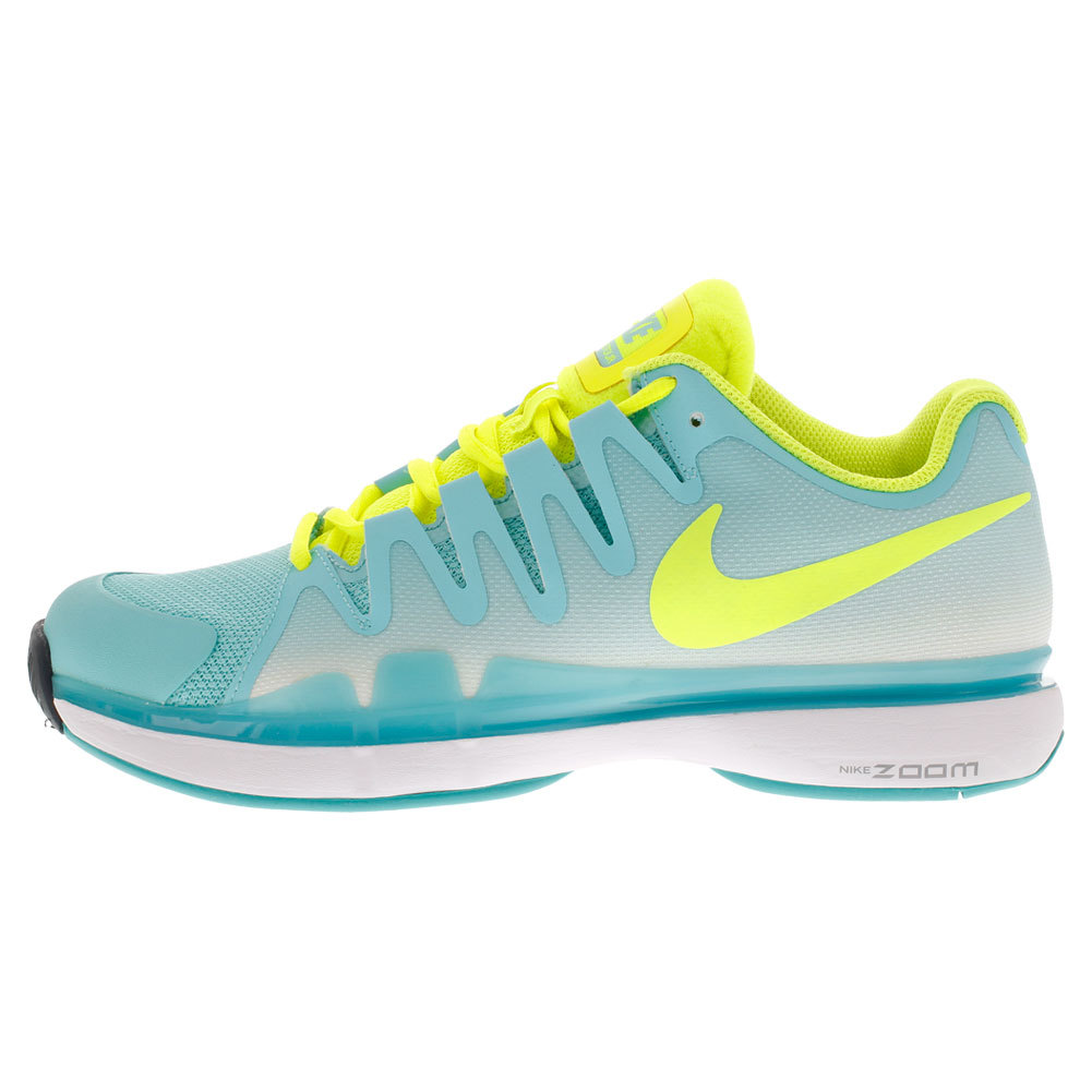 Women's Zoom Vapor 9.5 Tour Tennis Shoes Light Aqua And Volt