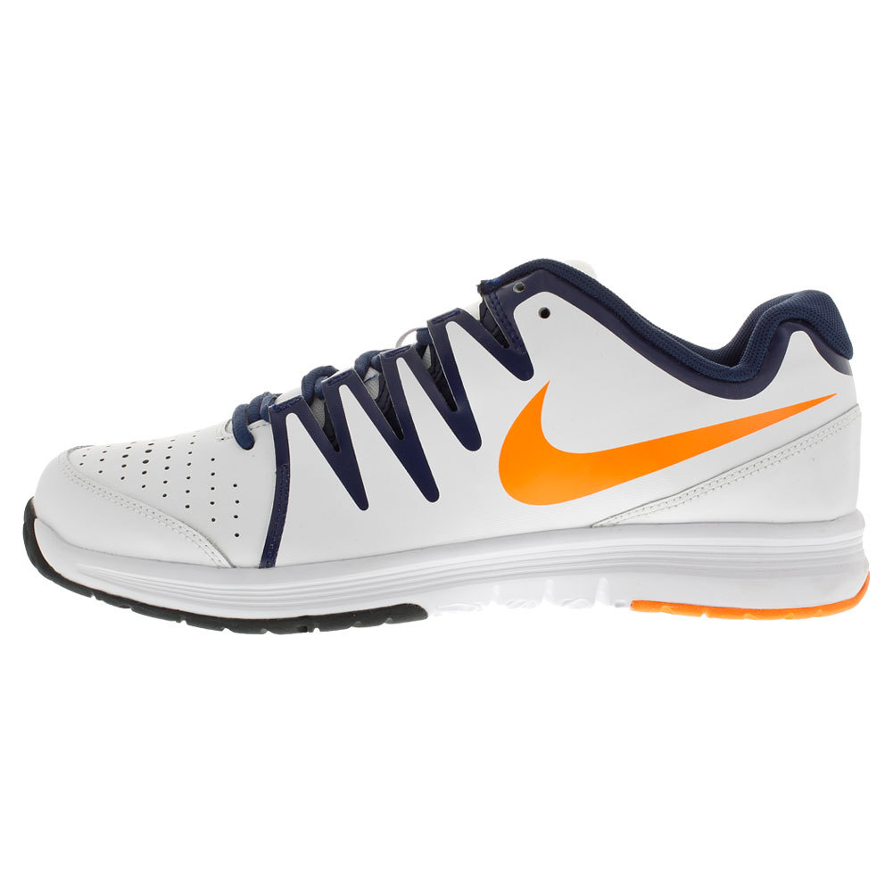 nike s vapor court tennis shoes white and midnight navy