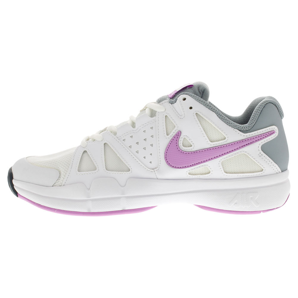 Women's Air Vapor Advantage Tennis Shoes White And Dove Gray