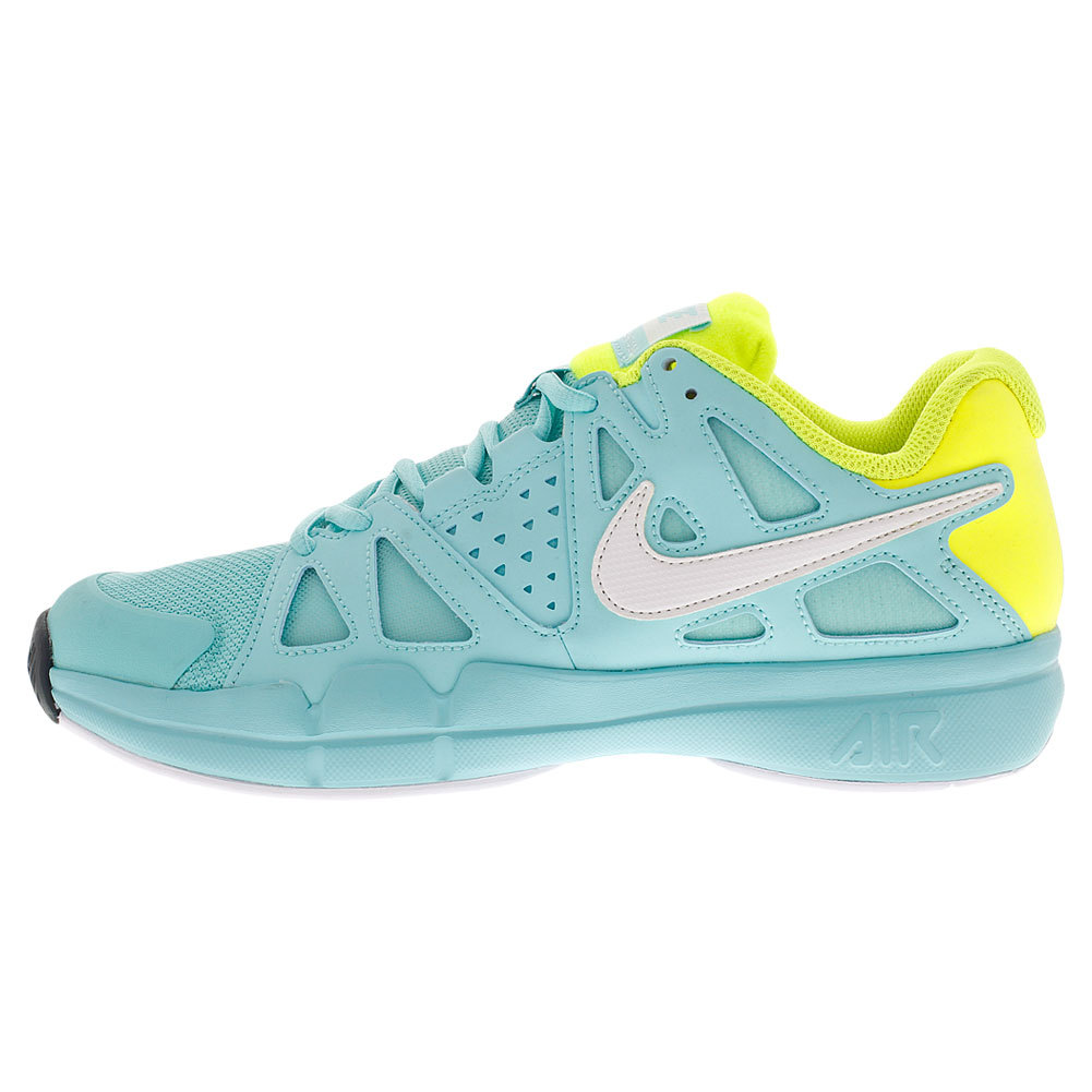 nike s air vapor advantage tennis shoes light aqua
