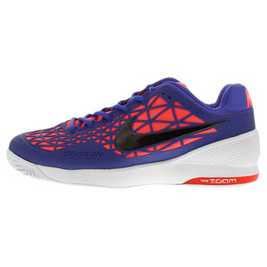 Men`s Zoom Cage 2 Tennis Shoes Persian Violet and White
