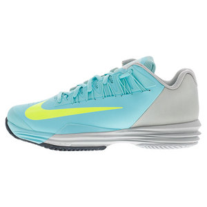 Women`s Lunar Ballistec 1.5 Tennis Shoes Light Aqua and Gray Mist