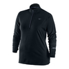NIKE Women`s Element Half-Zip Top Black