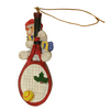CLARKE Snow Man on Large Racquet Ornament