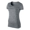 NIKE Women`s Dri-Fit Knit Short Sleeve Top Black