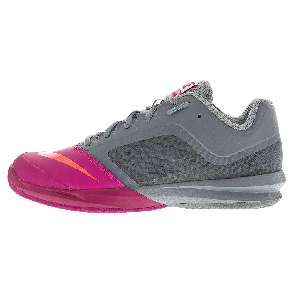 Women's Dri- Fit Ballistec Advantage Tennis Shoes Dove Gray And Fuchsia Flash