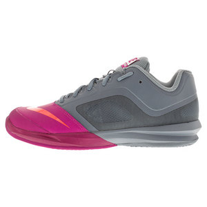 Women`s Dri-Fit Ballistec Advantage Tennis Shoes Dove Gray and Fuchsia Flash