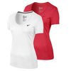 NIKE Womens V-Neck Legend Short Sleeve Tee 2.0