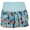 LUCKY IN LOVE Women`s Pleated Tier Tns Skort Print