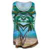 LUCKY IN LOVE Women`s Seabreeze Tennis Tank Print