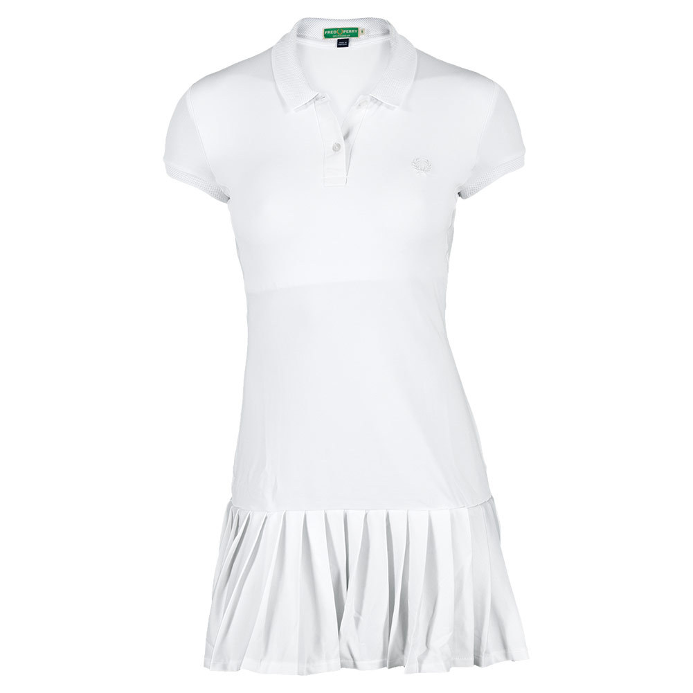 Tennis Express | FRED PERRY Women`s Mesh Collar Tennis Dress White