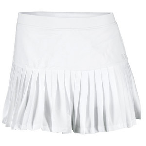 Women`s Pleated Tennis Ball Skort White